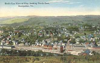 Montpelier, Vermont - Bird's-eye view, circa 1912