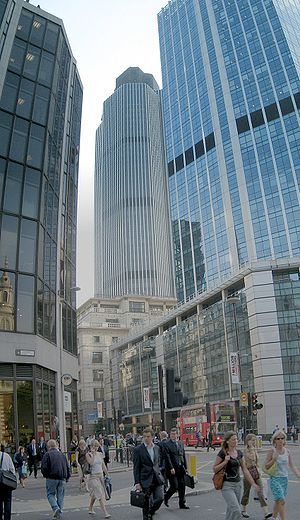 Economy of London - Bishopsgate, in the City of London.