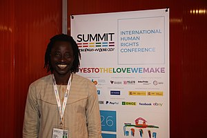 Bisi Alimi - Bisi Alimi at WorldPride Madrid summit