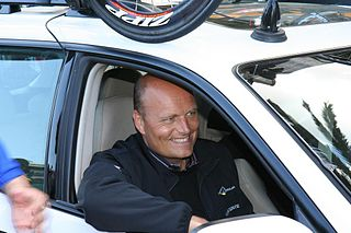 Bjarne Riis Cycling team manager and former road bicycle racer