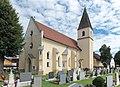 Bleiburg Mießbergstrasse Loibach 1a Filialkirche hl Andreas mit Friedhof 18082015 6737.jpg