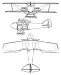 Bleriot SPAD S.45 3-view Les Ailes November 17,1921.png