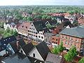 Blick vom Kirchturm St Marien auf Winsen Luhe in die Marktstraße am 12Mai2013.JPG