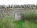 Blocked up sheephole in drystone wall - geograph.org.uk - 507435.jpg