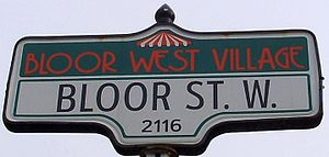 Bloor West Village - A Bloor West Village street sign.