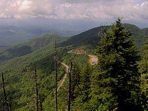 Mountains-to-Sea Trail - Image: Blue ridge pkwy waterrock knob nc 1