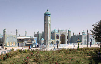 Mazar-i-Sharif - The Blue Mosque is a destination for pilgrims.
