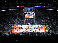 Time Warner Cable Arena, home to the Charlotte Bobcats of the NBA.