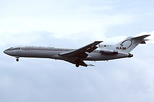 1972 Moroccan coup attempt - A Moroccan Boeing 727, similar to that involved in the coup
