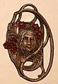 Boemia, fibbia per cintura in metallo e granati, 1900 ca.jpg