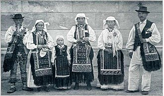 White Carniola - Peasants from White Carniola in traditional costumes at the beginning of the 20th century