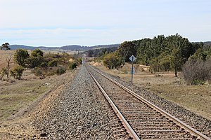 Mount Fairy - Bombala railway line, looking north to former Mount Fairy railway station