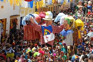 Carnival block - Giants dolls of Olinda, Pernambuco