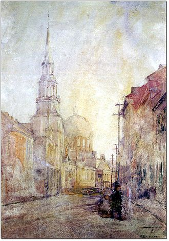William Brymner - Image: Bonsecours Church and Market