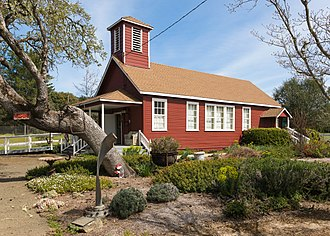 Boonville, California - Historic Boonville schoolhouse