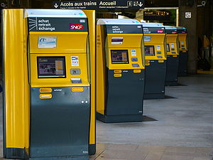 SNCF Tickets machines