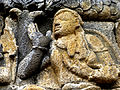 Borobudur - Lalitavistara - 013 E, The Bodhisattva enters Queen Maya's Womb (detail 3) (11247893123).jpg