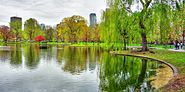 Boston Public Garden panorama