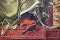 Bottega di cosmè tura, musa erato, 1450 ca., dallo studiolo di belfiore, 04 sandalo che sporge.jpg