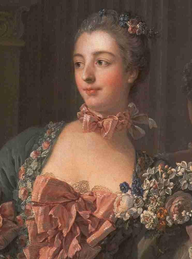 Boucher Marquise de Pompadour 1756 detail