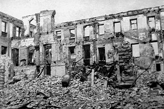 Brown House, Munich - The Brown House in ruins, 1945