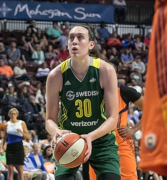 Breanna Stewart - Seattle Storm forward Breanna Stewart (30) taking a free throw.