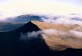 Brecon Beacons mountain range in South Wales, UK