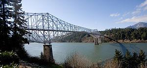 The Bridge of the Gods from Cascade Locks, Oregon.