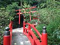 Bridge on sando of Nanten Inari Shrine in Nanzoin Temple in Sasaguri, Kasuya, Fukuoka.JPG