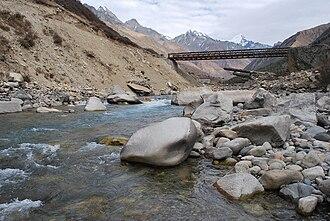 Baspa River - Bridge over Baspa River near Chitkul