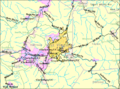 Bridgeport WV 2000 Census reference map.png