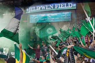 Cascadia Cup - Montage of Portland Supporters