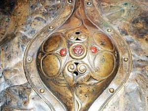 Witham Shield - Detail of the central boss