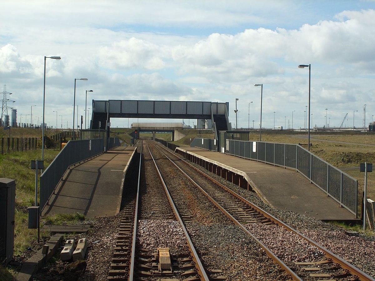 redcar british steel railway station wikipedia