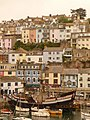 Brixham, Golden Hind and hillside housing - geograph.org.uk - 1464893.jpg