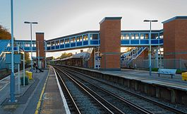 Brockenhurst Station with new footbridge.jpg