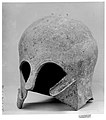 Bronze helmet of the Corinthian type MET 3424.jpg