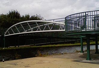Brownhills - The new Brownhills bridge crosses the Wyrley and Essington Canal