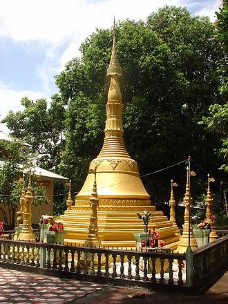 Bengali Buddhists - A Buddhist temple on Maheshkhali Island, Chittagong