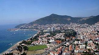 Budva-Muntenegru-vedere de pe munte-stitch3