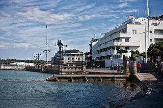 Cowes town on the Isle of Wight, England