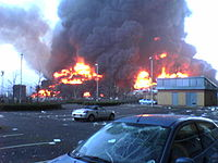 The Hertfordshire explosions seen from nearby on December 11.
