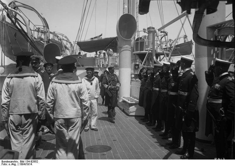 """Bundesarchiv Bild 134-B2652, Besuch auf der SMS """"Geier"""""""