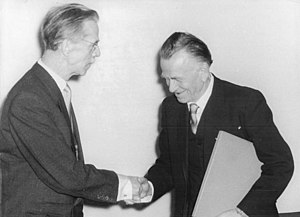 Otto Dix - Otto Nagel (left) and Dix (right) on 12 April 1957
