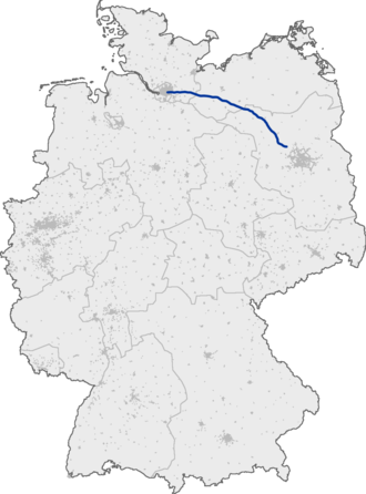 Bundesautobahn 24 - Image: Bundesautobahn 24 map