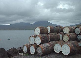 Bunnahabhain distillery - Empty casks at Bunnahabhain distillery