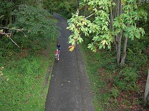 Burke-Gilman Trail, Seattle, Washington.