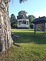 Burke Mountain Club Community Library gazebo VT Rte 114 downtown East Burke VT August 2019.jpg