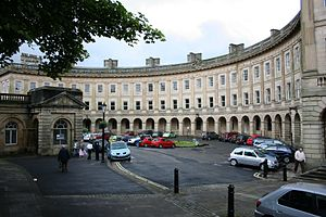 Buxton Crescent - Buxton Crescent with the Pump Room to the left