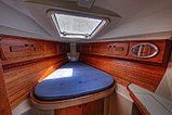 A view of the Forward Guest Stateroom of a C&C 37/40 looking forward.